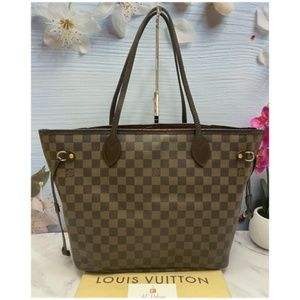 Neverfull MM Damier Ebene Shoulder Tote (SP2028)